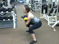 Katie Working Out